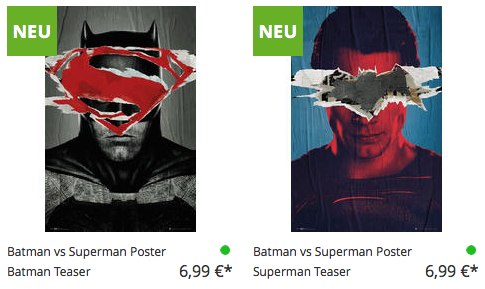 Batman v Superman Poster Close Up